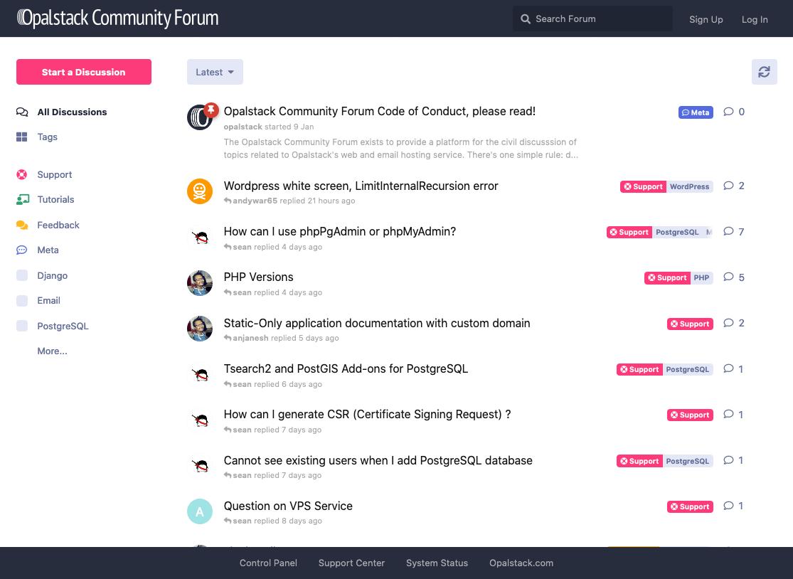Opalstack Community Forum